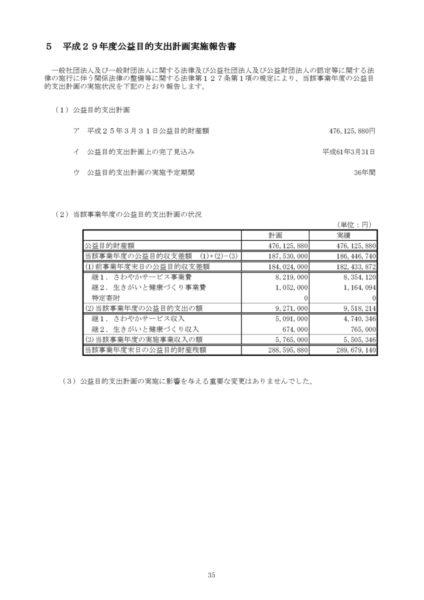 平成29年度公益目的支出計画実施報告書image