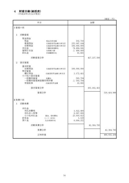 平成29年度財産目録image