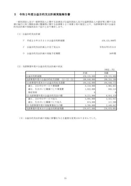 令和2年度公益目的支出計画実施報告書image